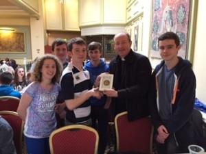 Bishop Cullinan with JPII Award