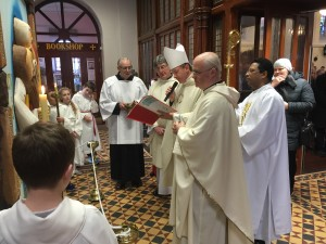 Blessing of Holy Door by Bishop Alphonsus Cullinan - St Peter & Paul's Clonmel