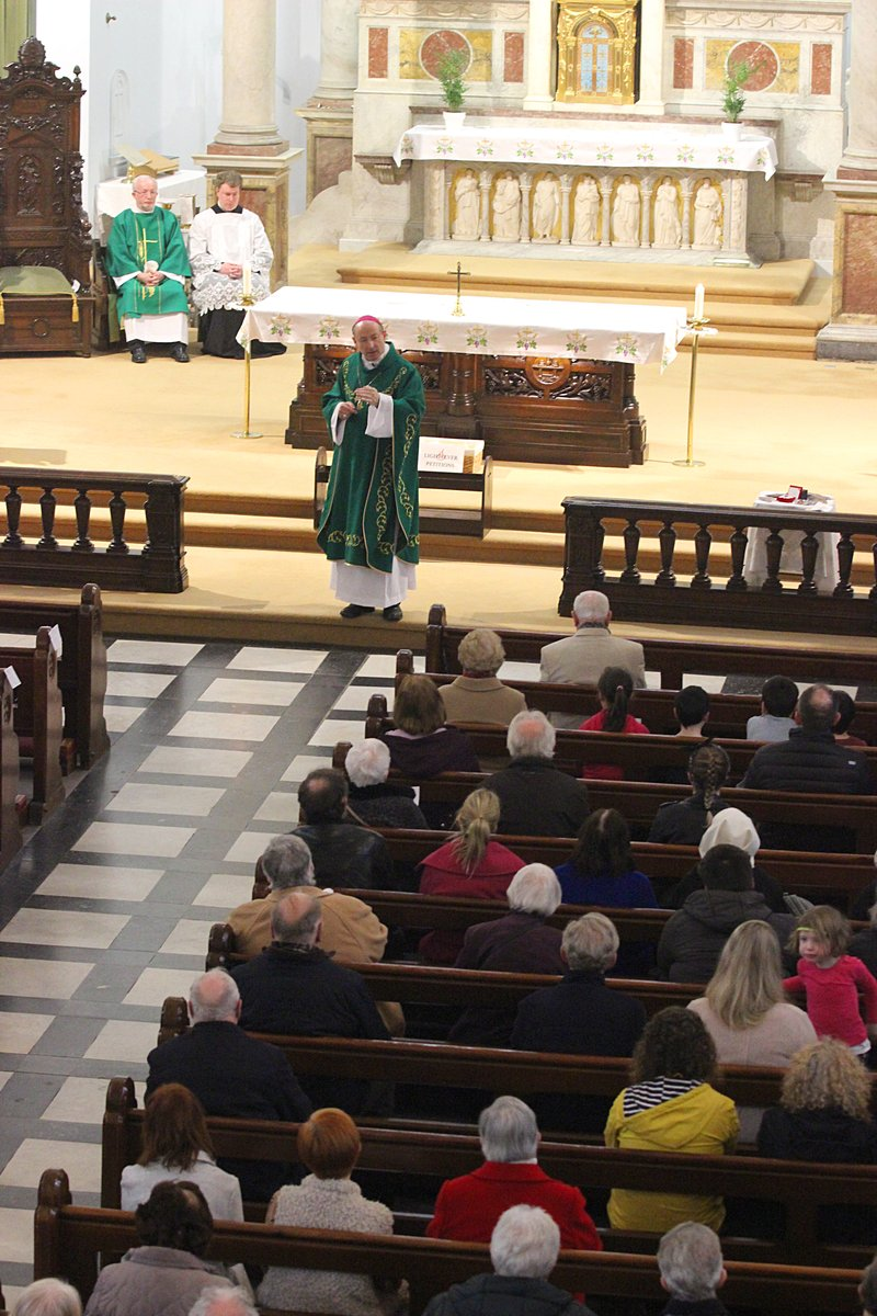 Bishop Cullinan delivers his homily